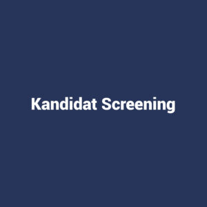 Ydelse: Kandidat Screening
